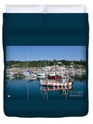 Lyme Regis Harbour On A July Morning Duvet Cover