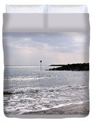 Lyme Regis Seascape - March Duvet Cover