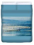 Lyme Regis Under Glass Duvet Cover