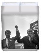 Lyndon Johnson With Robert Kennedy Duvet Cover