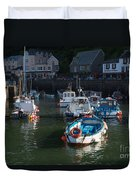 Lynmouth Harbour Devon Duvet Cover