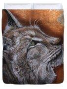 Lynx Face Duvet Cover