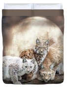 Lynx Moon Duvet Cover