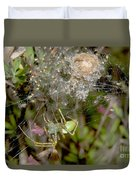 Lynx Spider And Young Duvet Cover