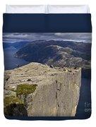 Lysefjord With Prekestolen Duvet Cover