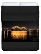 The Hernando De Soto Bridge M Bridge Or Dolly Parton Bridge Memphis Tn  Duvet Cover