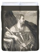 M Silvius Otho Emperor Of Rome Duvet Cover by Titian