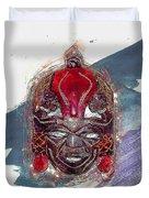 Maasai Mask - The Rain God Ngai Duvet Cover