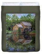 Mabry Mill Oil On Slate Duvet Cover