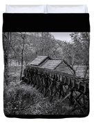 Mabry Mill Water Shute In Black And White Duvet Cover