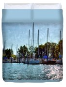 Macatawa Masts Duvet Cover
