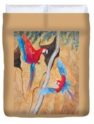 Macaw Claylick Duvet Cover