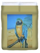 Macaw On A Limb Duvet Cover