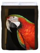 Macaw Profile Duvet Cover by John Telfer