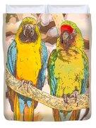 Macaws Duvet Cover