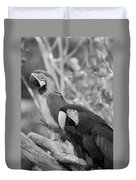Macaws Of Color B W 14 Duvet Cover