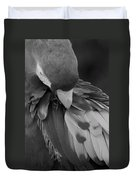 Macaws Of Color B W 16 Duvet Cover