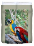 Macaws Of Color23 Duvet Cover