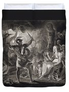 Macbeth, The Three Witches And Hecate Duvet Cover