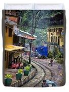 Macchu Picchu Town - Peru Duvet Cover