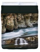 Macdonald Creek Falls Glacier National Park Duvet Cover