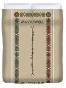 Macdowell Written In Ogham Duvet Cover
