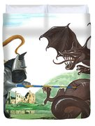 Macduff And The Dragon Duvet Cover by Margaryta Yermolayeva