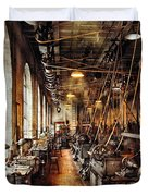 Machinist - Machine Shop Circa 1900's Duvet Cover