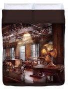 Machinist - The Fan Club Duvet Cover by Mike Savad