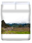 Machu Picchu Main Square And The Group Of The Three Doorways Duvet Cover