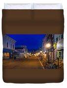 Mackinac Island Midnight Duvet Cover