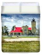 Mackinac Point Lighthouse Michigan Duvet Cover
