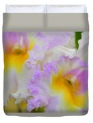 Macro Orchid Duvet Cover