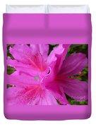 Macro Purple Azalea Flower Duvet Cover