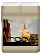 Macy's With Empire State Building - Famous Buildings And Landmarks Of New York City Duvet Cover