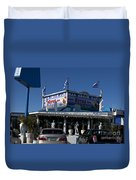 Mad Greek Cafe Duvet Cover