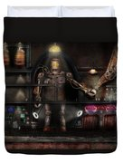 Mad Scientist - The Enforcer Duvet Cover by Mike Savad