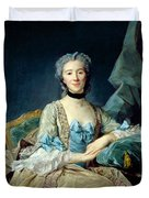 Madame De Sorquainville, 1749 Oil On Canvas Duvet Cover