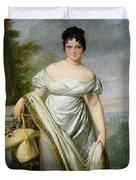 Madame Tallien 1773-1835 Oil On Canvas Duvet Cover