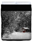 Made In Maine Winter  Duvet Cover