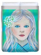 Madelyn Little Angel Of Clear Vision Duvet Cover