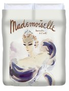 Mademoiselle Cover Featuring A Woman In A Gown Duvet Cover by Helen Jameson Hall