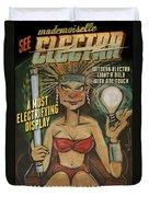 Mademoiselle Electra Poster Duvet Cover