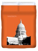 Madison Capital Building - Coral Duvet Cover