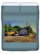 Madison Georgia Historic Train Station Duvet Cover
