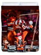 Madness In The Hatter's Realm Duvet Cover