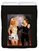 Madonna And Britney Spears  Duvet Cover