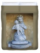 Madonna And Child Carmel Mission Monterey California Duvet Cover