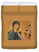 Madonna And Child Enthroned  Duvet Cover