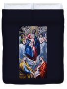 Madonna And Child With Saint Martina And Saint Agnes Duvet Cover